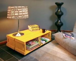 Mesa de Centro de caixa de madeira