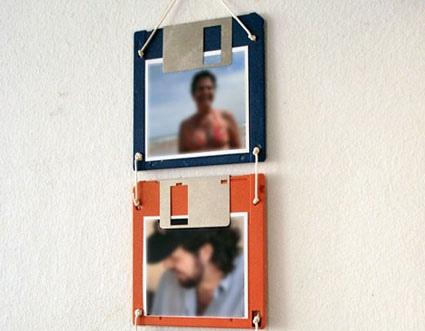 Retrato feito com disquete