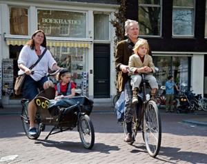 Uso de bike em Amsterdam