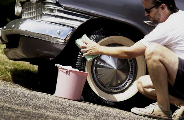 lavando carro