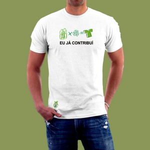 camisa feita de pet