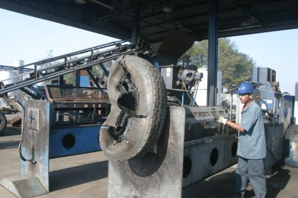 Reciclagem do pneu