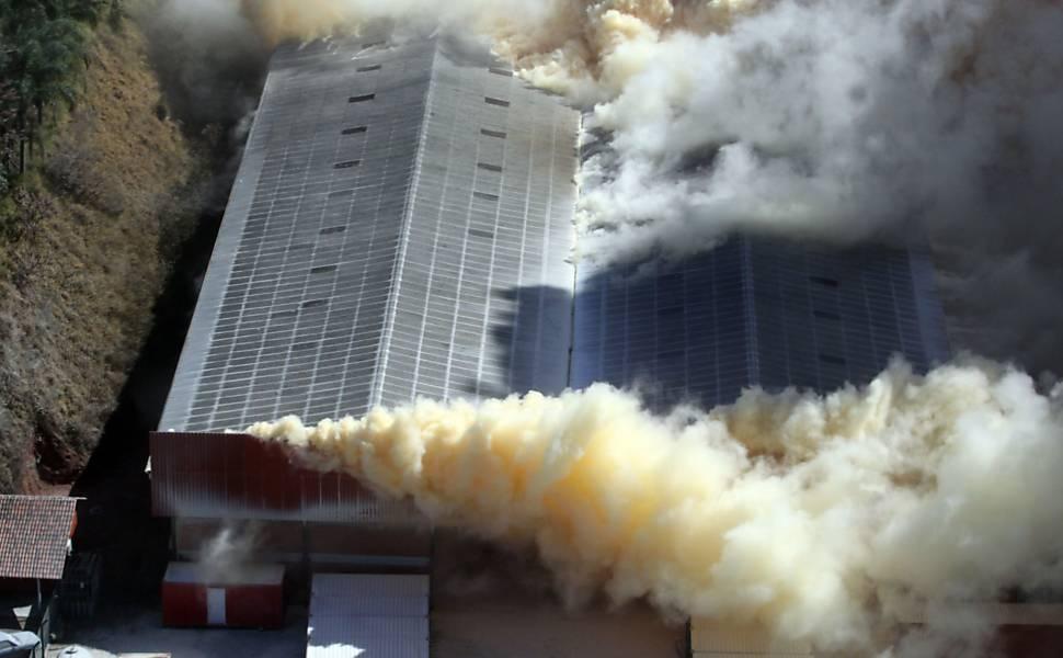 Incêndio na fábrica de fertilizantes SC