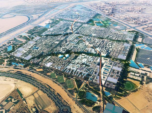 Vista aérea de Masdar City