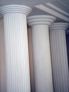 Coluna de gesso