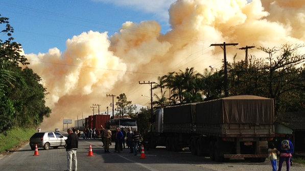 Incêndio em Santa Catarina