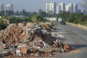 Entulho de construção civil