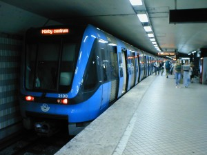 Metrô em Estocolmo