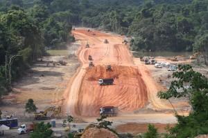 Obras no Sitio Pimental da hidrelétrica Belo Monte