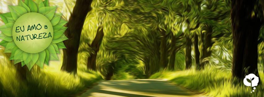 """Capa """"Eu amo a natureza"""""""