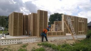 Painéis de palha para construções pré-fabricadas