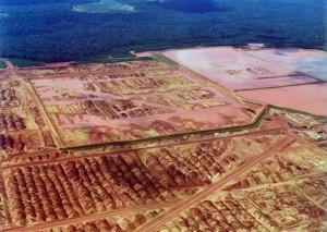 Área degrada por extração de bauxita no PA