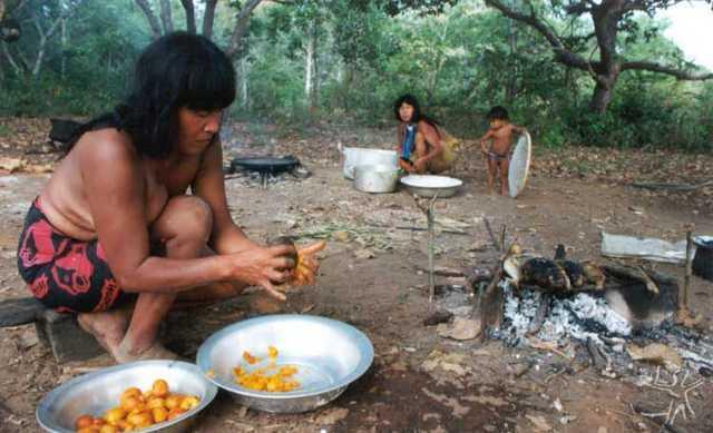 Alimentação dos índios