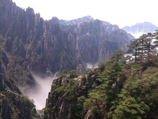 Montanha Huangshan, China.