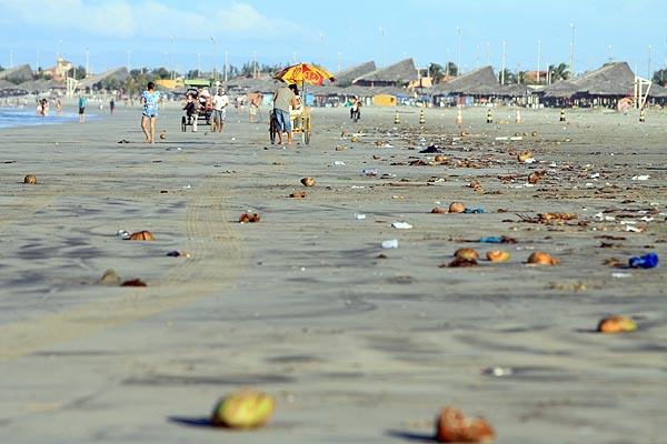 Praia suja