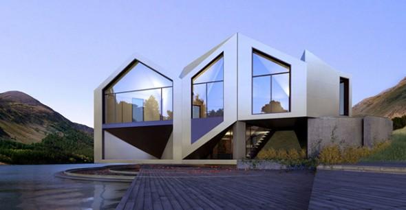 Casa em formato de origami