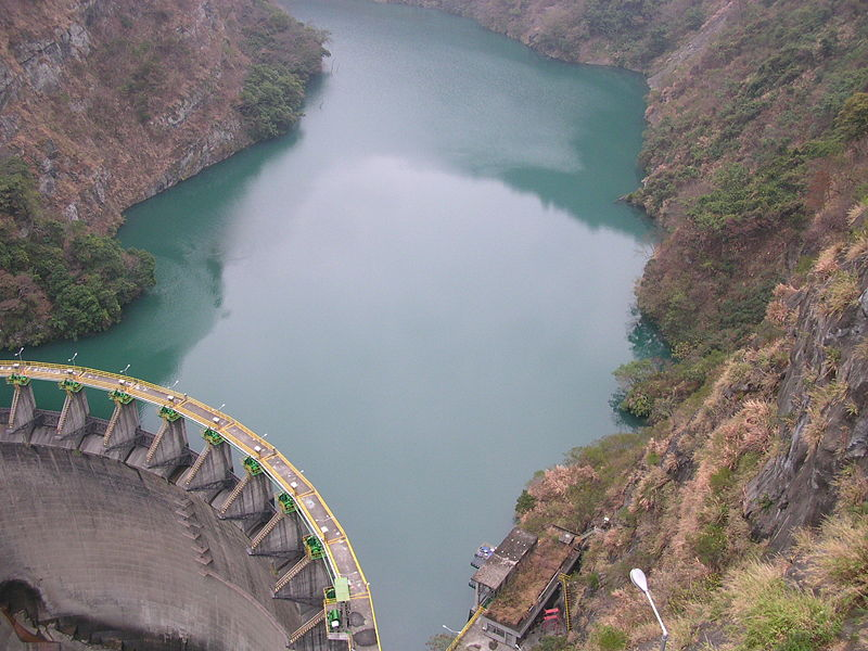 Lago artificial em Taiwan.