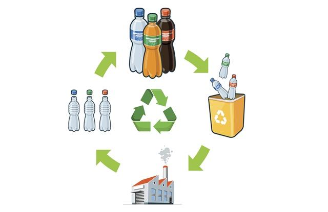 foto de ciclo de vida das embalagens de bebida até a reciclagem