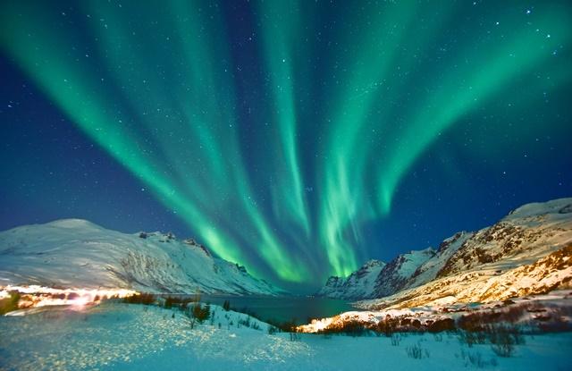 foto do fenômeno chamado de aurora boreal