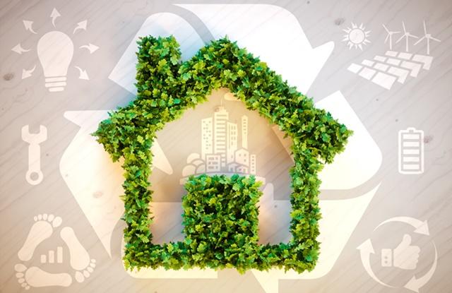 foto de casa feita de planta e desenhos sustentáveis